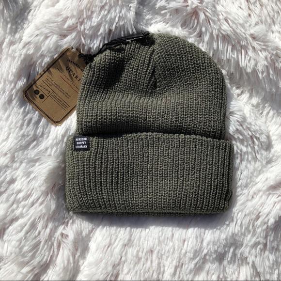 78f54b7062e Army green Herschel fall winter beanie knit hat